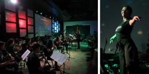 Los Clubes Universitarios Falcon Fury Marching Band, Falcon Rockapellas, Falcon D Squad y Young Women's, bajo la dirección del músico y mentor Fabián Vargas, participaron en la presentación de la nueva Junta Directiva con un hermoso musical.