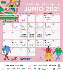 Calendario de webinars, Pride Virtual 2021.